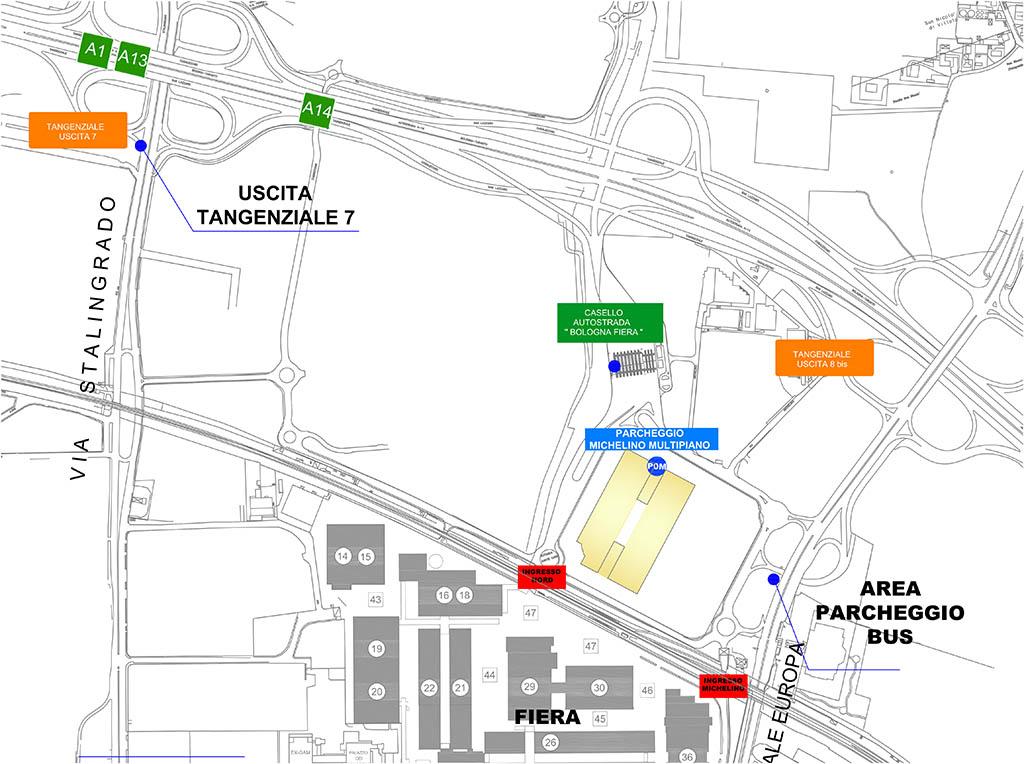Area parcheggio bus e camper
