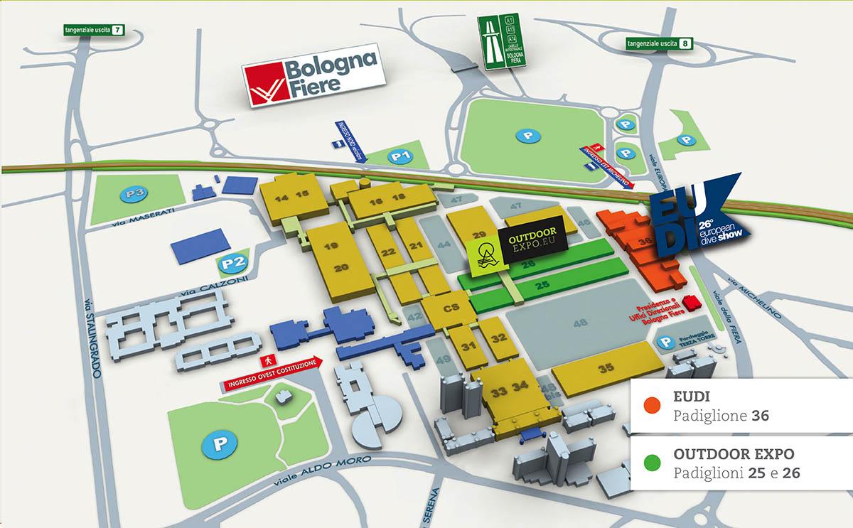 Mappa BolognaFiera