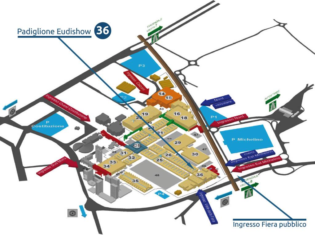 Mappa padiglione BolognaFiere