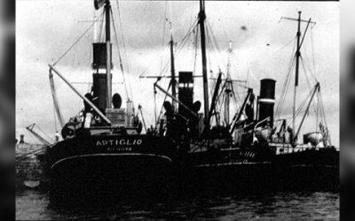 L'Artiglio era una nave recuperi a vapore