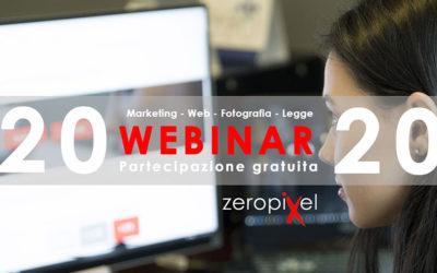 ZEROPIXEL – 20 webinar gratuiti: marketing, web, fotografia e legge